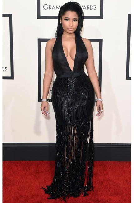 2015 Grammy Awards Red Carpet. Nicki Minaj. Tom Ford.