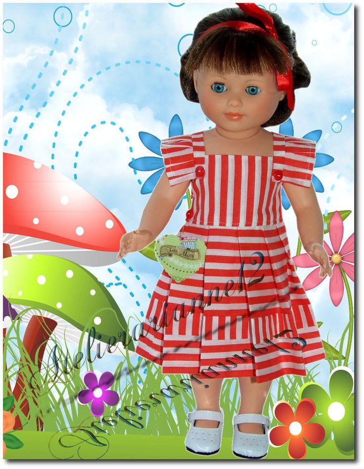 Vêtement poupée MODES ET TRAVAUX juin 1953, Marie-Françoise et autres 40 cm
