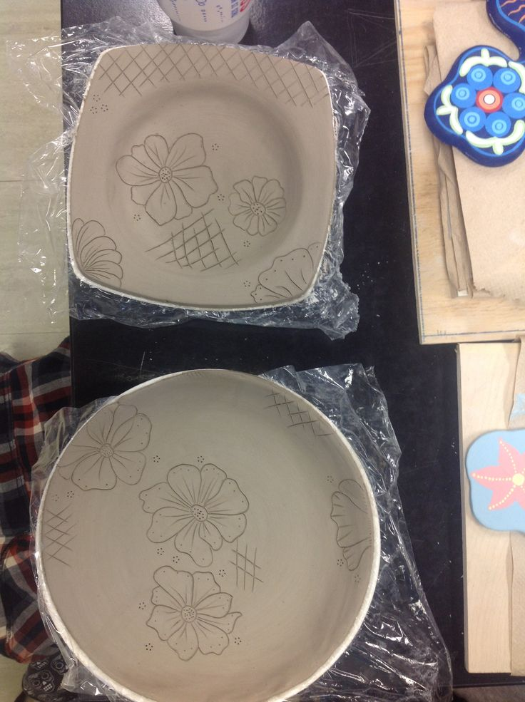 Plates, going to use Mishima for the drawings on the surface.