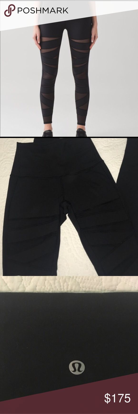 *flash sale* Lululemon Tech Mesh Leggings New, never worn without tags. Wunder Under. Sold out online and in store. Looking to sell because they don't fit me--just looking to get my money back for what I paid. Willing to trade for a size 2, or other size 4 lululemon leggings. lululemon athletica Pants Leggings