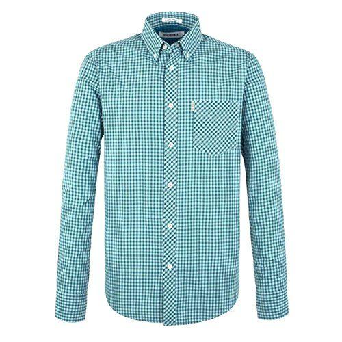 (ベンシャーマン) メンズ トップス シャツ Ben Sherman Classic Gingham Check Long Sleeve Shirt 並行輸入品  新品【取り寄せ商品のため、お届けまでに2週間前後かかります。】 表示サイズ表はすべて【参考サイズ】です。ご不明点はお問合せ下さい。 カラー:Forest Green