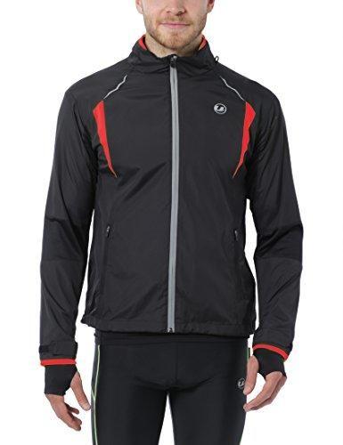 Oferta: 53.12€. Comprar Ofertas de Ultrasport Stretch Delight - Chaqueta deportiva de running y ciclismo para hombre, color negro/ rojo, talla L barato. ¡Mira las ofertas!