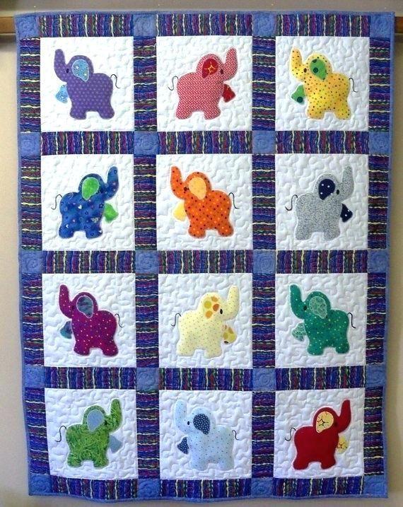 Patchwork Quilts Patterns Pinterest Elephant Quilts Elephant Quilt
