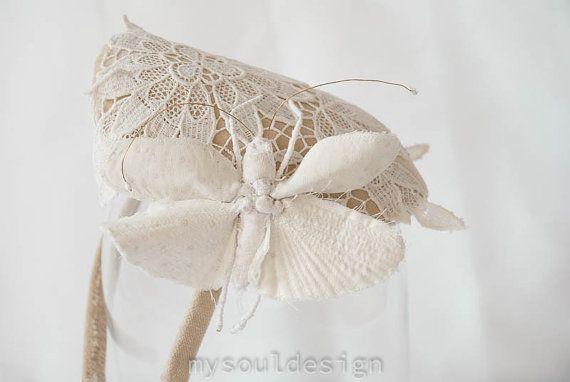 Cream Fascinator Hat Ladies Occasion Hatinator von mysouldesign