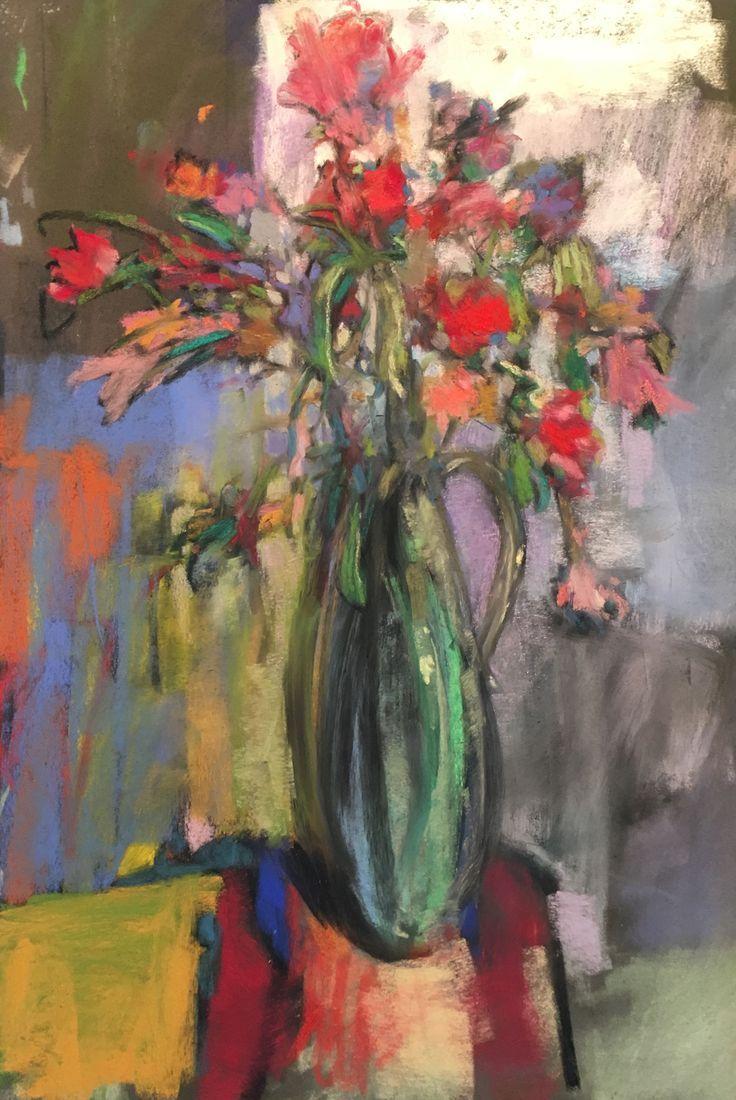 Flowers for February  2018  Pastel & Oil  19