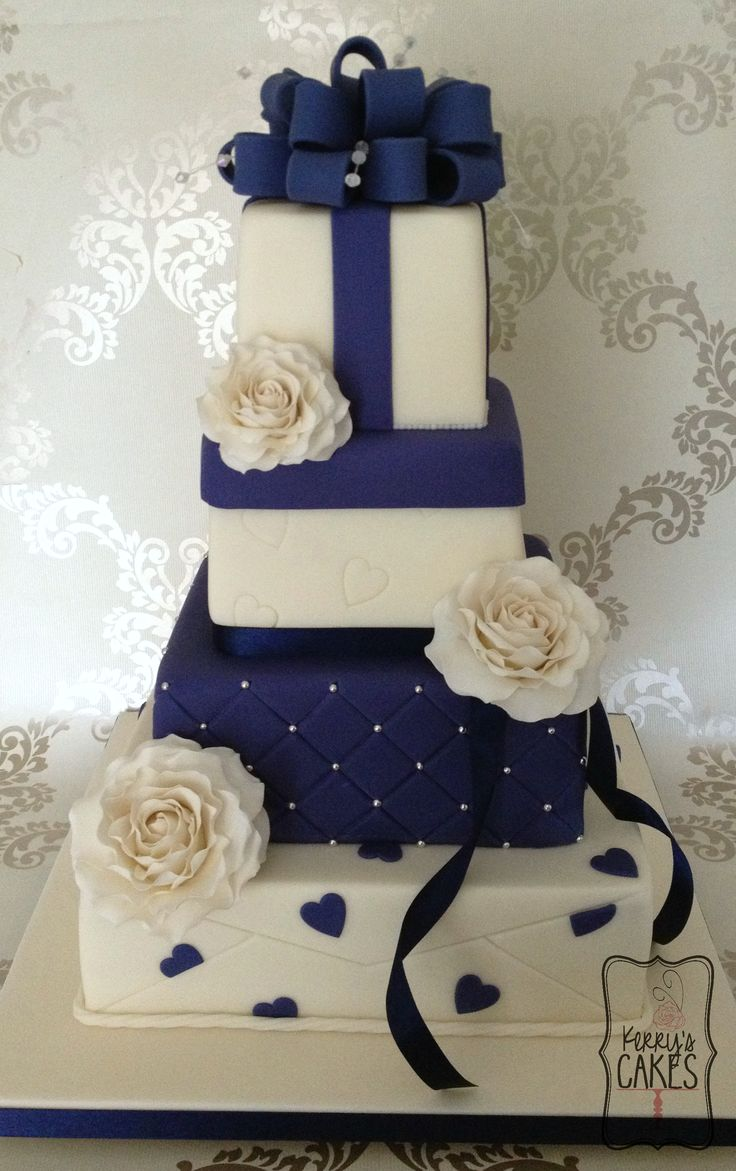 Square Wedding Cakes - but 3 layers and room for my elephants on top. :)