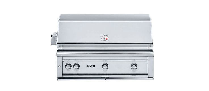 """Lynx Grills L42PSR-2 NG 42"""" Natural Gas Stainless Steel Built-In Grill with 1200 Outdoor BBQ Grill Built-In"""