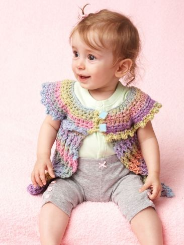 Cotton Candy Baby Tunic | Yarn | Free Knitting Patterns | Crochet Patterns | Yarnspirations: Babies, Cotton Candy, Free Pattern, Baby Sweaters, Candy Baby, Crochet Baby, Baby Crochet, Crochet Patterns, Baby Tunics
