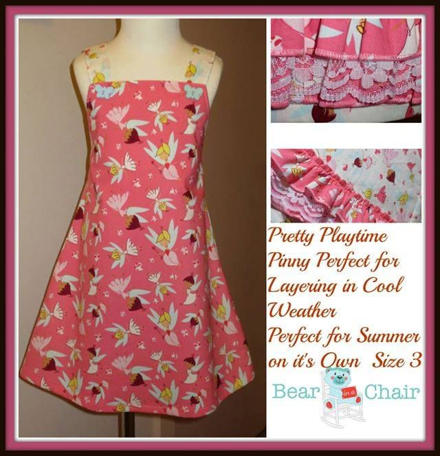 Handmade By Bear In A Chair Pretty Playtime Pinny