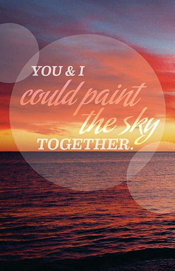 Paint the Sky 2 — Original photography and Print designed by Alix Mitchell GD