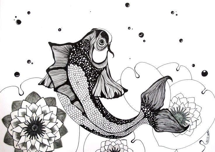 Koi Fish.  Ink, 2013.
