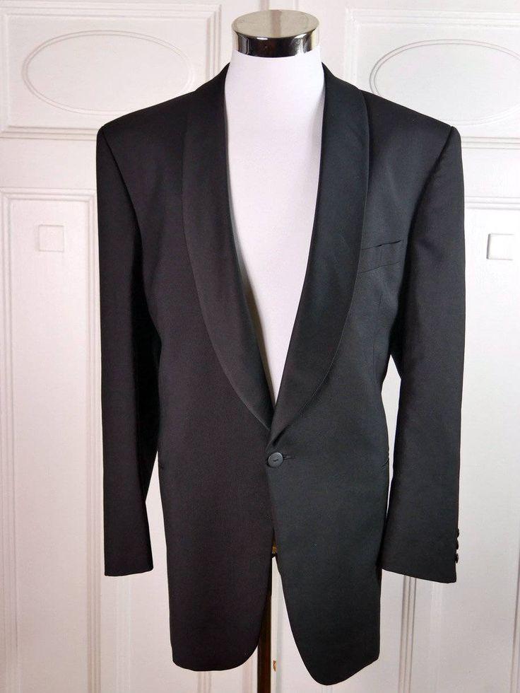 European Vintage Tuxedo Jacket, Black Dinner Jacket, 1990s Smoking Jacket, Grieff Vestments pour Homme, Shawl Collar Tux Jacket: Size 48R by YouLookAmazing on Etsy