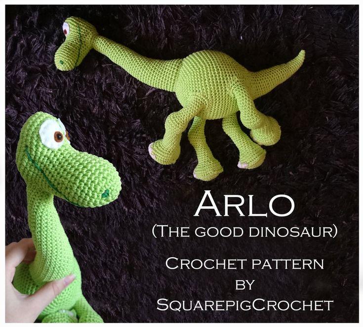 Crochet pattern Arlo (The good Dinosaur) by JupZje.deviantart.com on @DeviantArt
