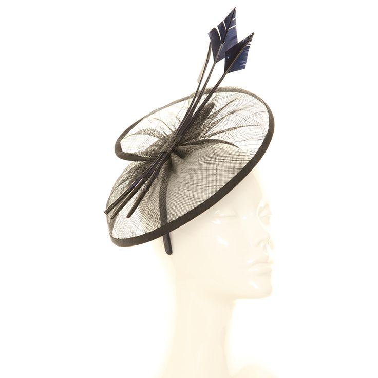Wedding Fascinator - Triple Quill Disc Sinamay