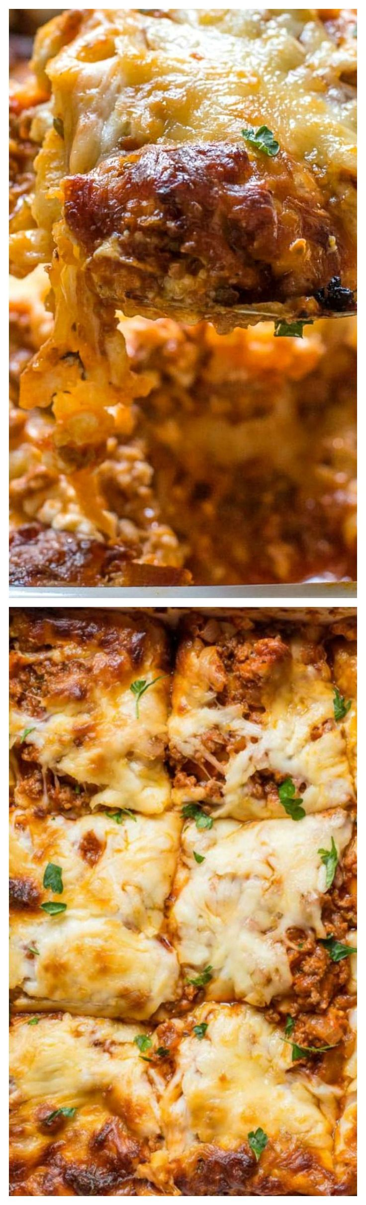 Mom's Cottage Cheese Lasagna ~ Rich, creamy and so delicious!