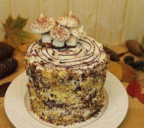Сметанный+торт+«Трухлявый+пень»