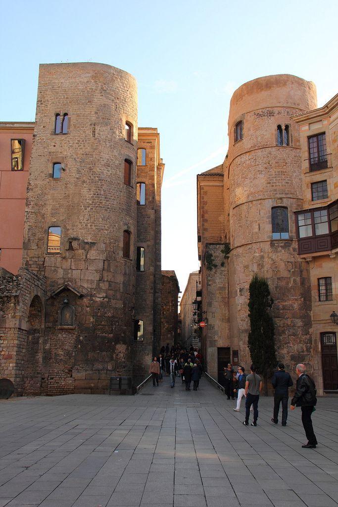 Plaça Nova, Barcelona - Roman gate to the city of Barcino. #Barcelona #Catalonia/Catalunya  #Europe
