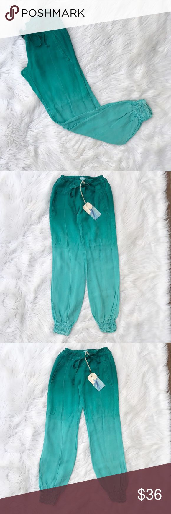 Guess Ombre Harlem Pants So cute and perfect for summer! Light weight and comfy material. NWT. Measurements to come. Guess Pants Track Pants & Joggers