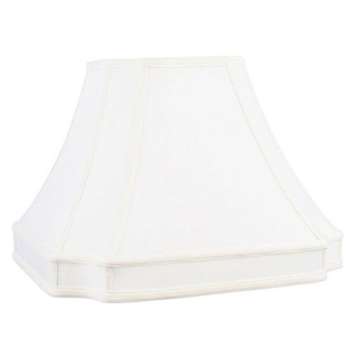 Livex S548 Round-cut Corner Shantung Silk Lamp Shade in White - S548