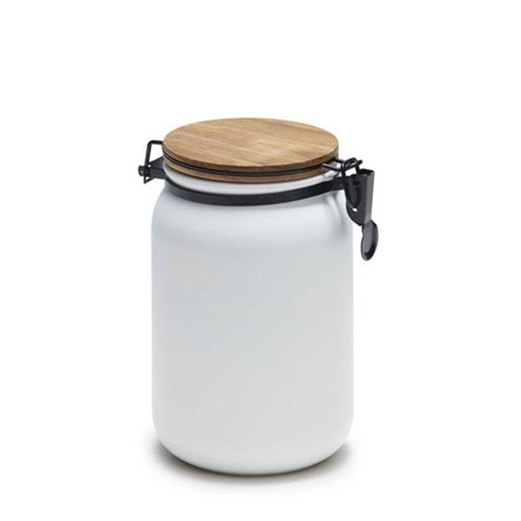 Salt & Pepper Hudson Canister 15 x 10cm White   Canisters - House