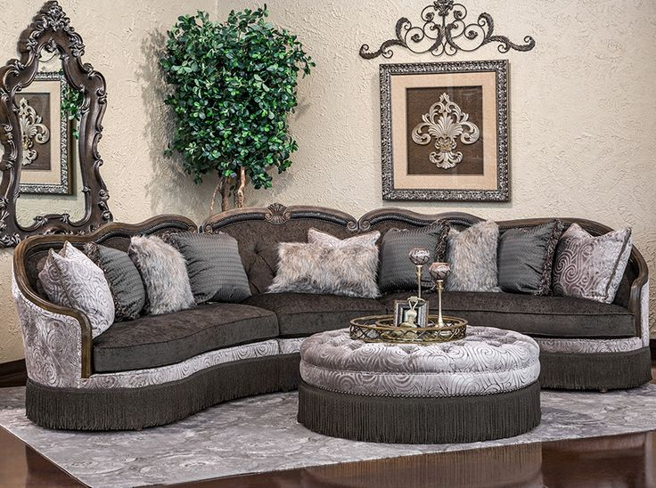 Hemispheres: A World of Fine Furniture | Gigi-Pewter Truffle 3 Piece Sectional