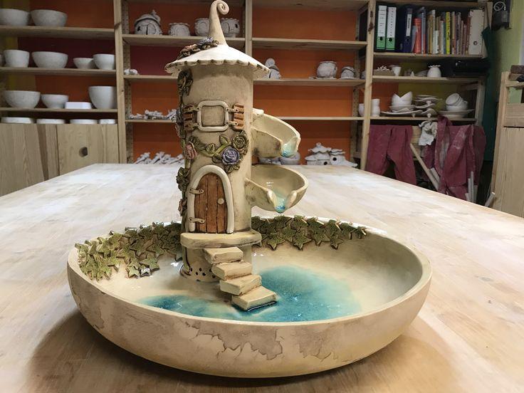 Keramikbrunnen #katzenbrunnen #zummerbrunnen