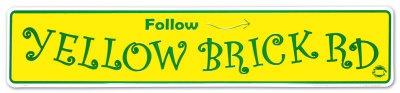 Yellow Brick Road Placa de lata na AllPosters.com.br
