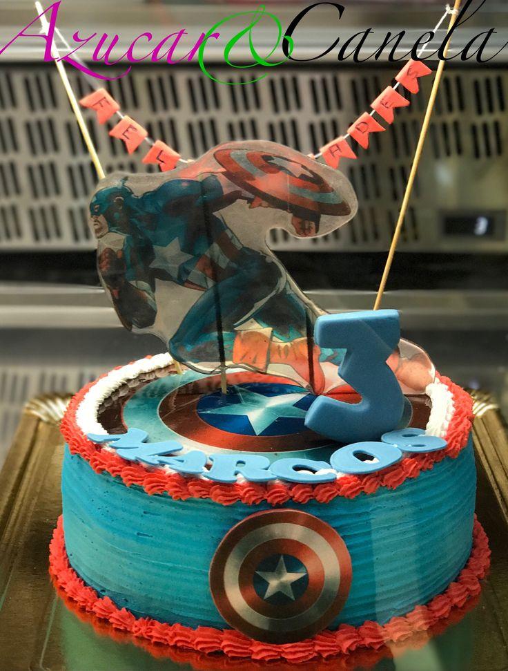 Tarta personalizada Tarta Pastel Tartas bonitas Tartas Infantiles Tartas de cumpleaños tarta Capitán América torta Capitán América