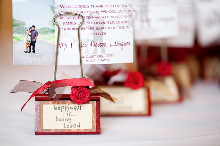 Wedding Favors Made From A Binder Clip Simple To Make And