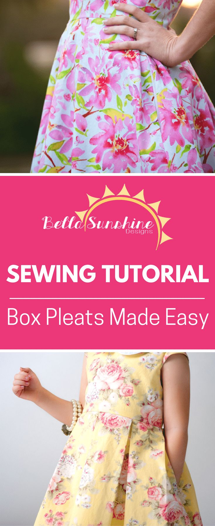 Sewing Tutorial: Box Pleats Made Easy - Must pin for later!