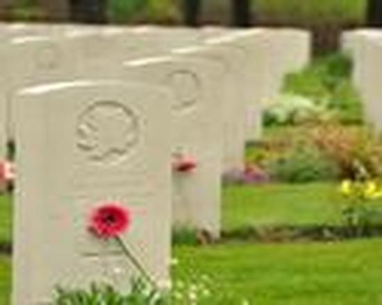 Canadian graves at the Groesbeek cemetery.
