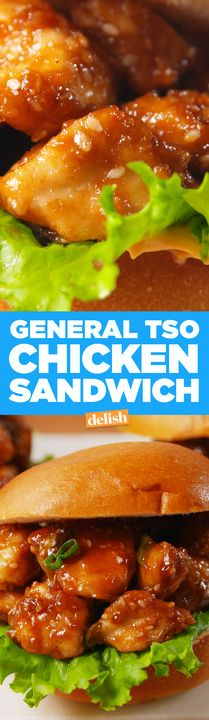 This General Tso Chicken Sandwich tastes so legit, your friends will think it's takeout. Get the recipe from Delish.com.