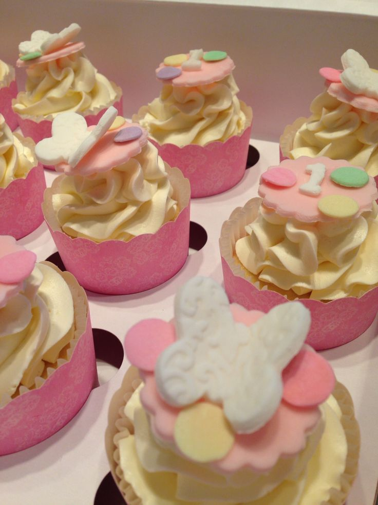 Butterfly cupcakes~birthday party