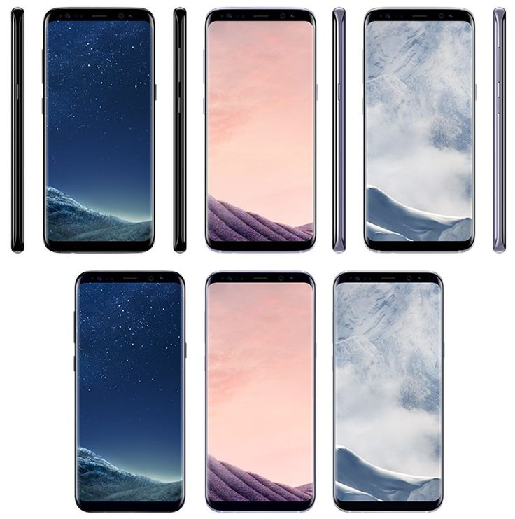 Samsung Galaxy S8 and S8 Plus in black sky orchid grey and arctic silver https://twitter.com/evleaks/status/843424632254468096