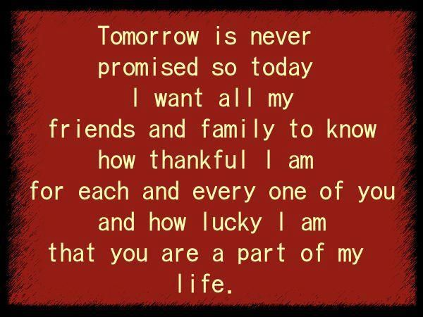 I'm Thankful For My Family And Friends!