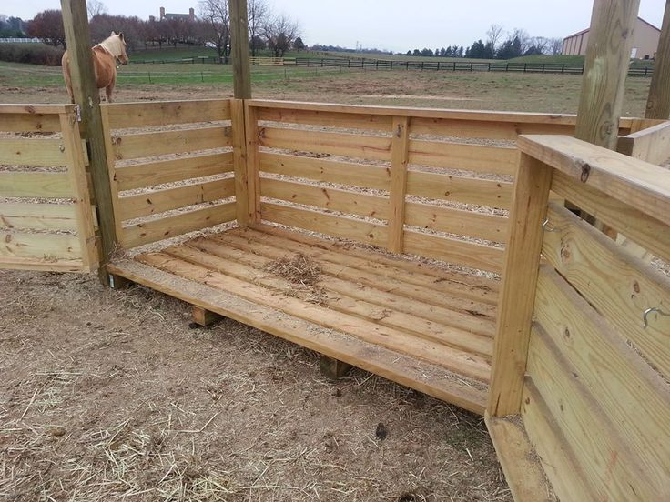 DIY hay feeder (gates open)