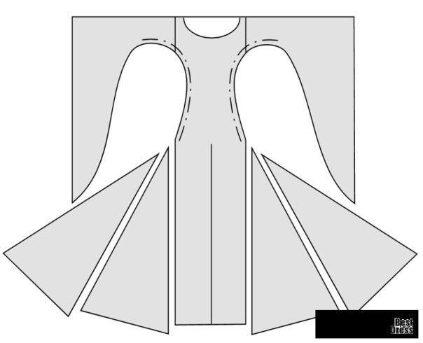 Средневековое платье выкройка и картинки