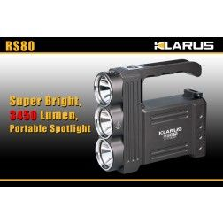 Klarus RS80 XM-L2(U2) Rechargeable Torch - 3450 Lumens