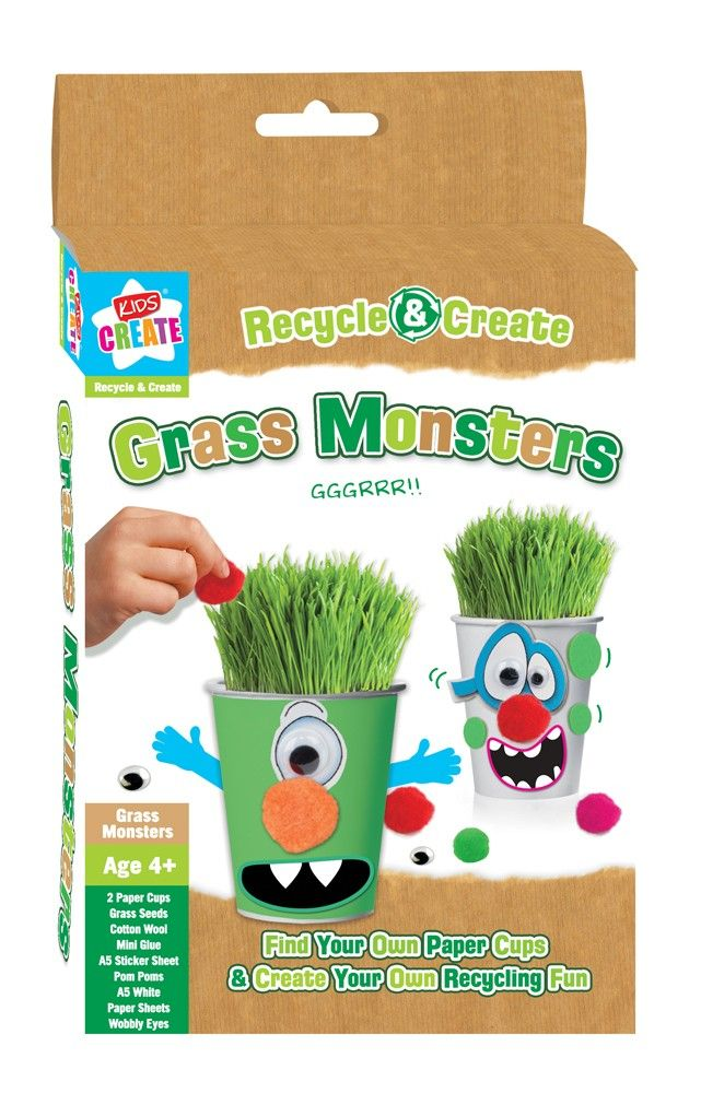 Recycle, create and grow with these fantastic Monster craft kits for children... £1.99