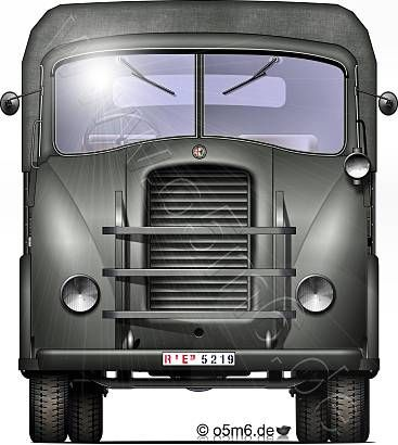"Engines of the Wehrmacht - ""Alfa Romeo 800"", 6.5-ton, 4x2, Heavy Truck"