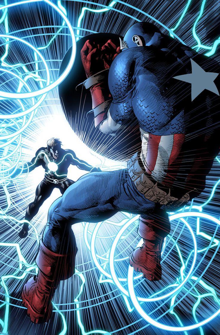 Havok vs Captain America by Mike Deodato Jr.