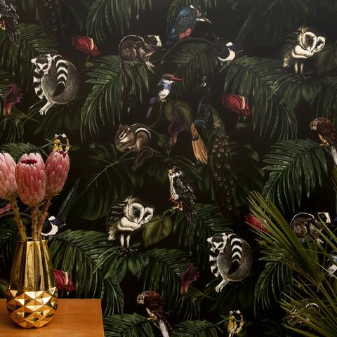 Amazonia Dark, a wild new wallpaper from Witch and Watchman