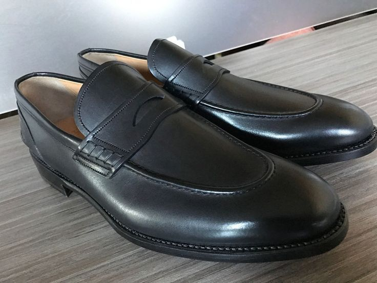 New BALLY AYER HAND MADE SWISS PENNY LOAFERS Shoes size 14 ...