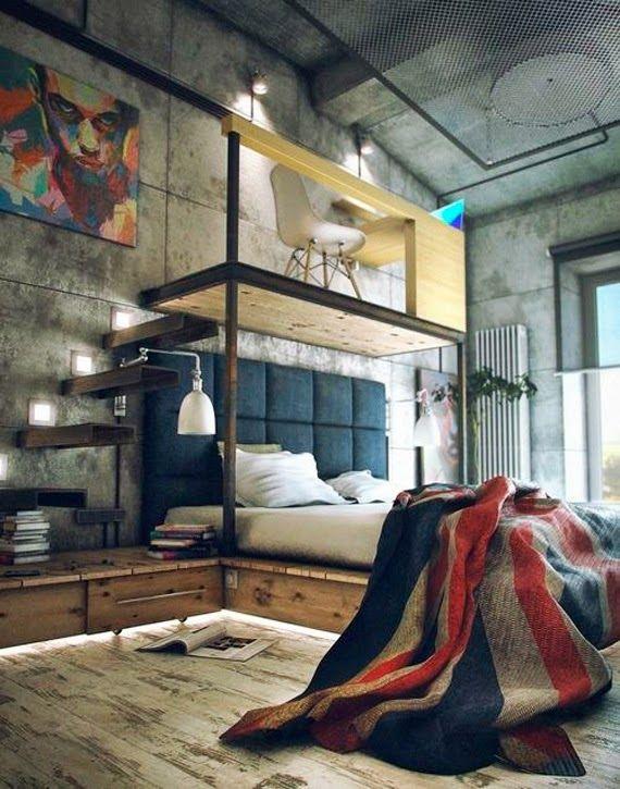 cama de casal - loft - cama suspensa - mezanino
