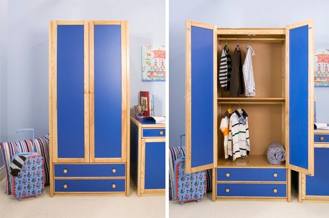 Kids Double Combi Wardrobe Also Available In White