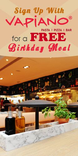 #Sign Up With #Vapiano for a #Free #Birthday Meal