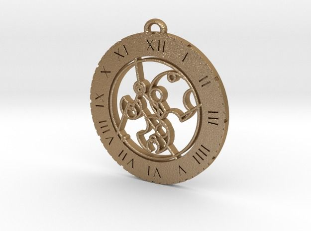 This is a pendant with 'Don't Stop Me Now' written in Gallifreyan based on the hauntingly entrancing version of the Queen song revitalised by Foxes for the Doctor Who episode 'Mummy on The Orient Express'. You can buy it at https://www.shapeways.com/shops/GallifreyGlam