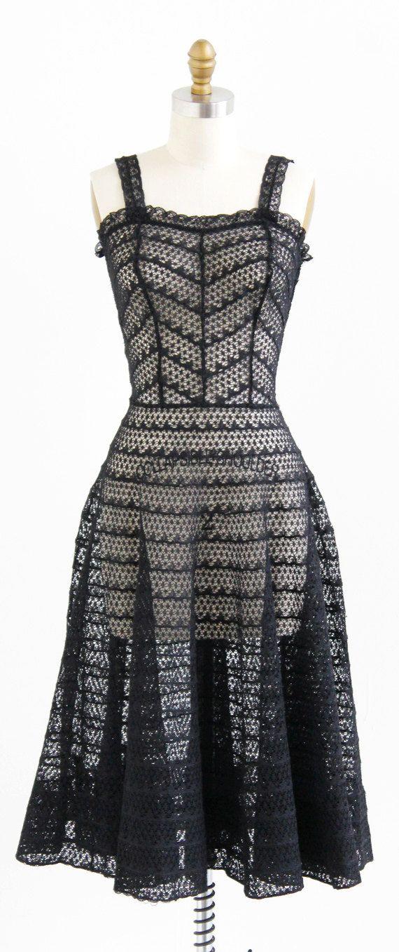 vintage 1950s lace dress