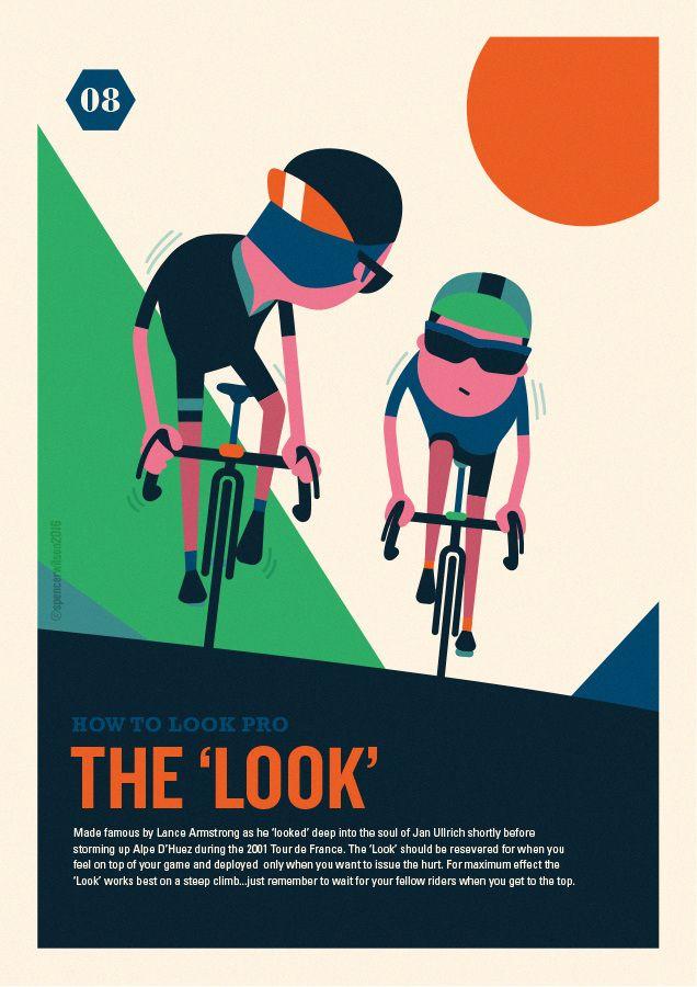 Ilustraciones ciclistas de Spencer Wilson 6