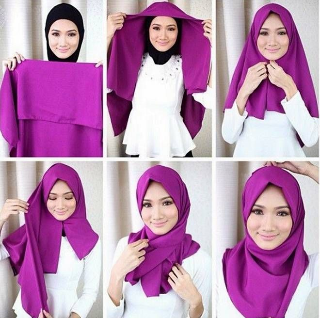 Gambar Cara Berhijab Segi Empat Terbaru Fashion Hijab Di 2019